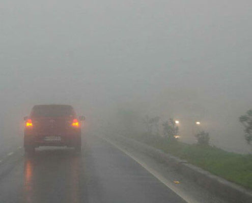 The influence of Fog on Traffic